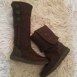 Brown Knit UGG Boots